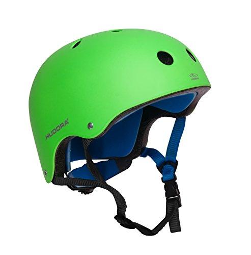 HUDORA 84108 - Skateboard-Helm, Scooter-Helm grün, Gr. 51-55, Skate Helm, Fahrrad-Helm