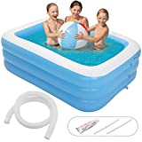 Minterest Pool, Piscine Gonflable rectangulaire Piscine Gonflable Adulte...