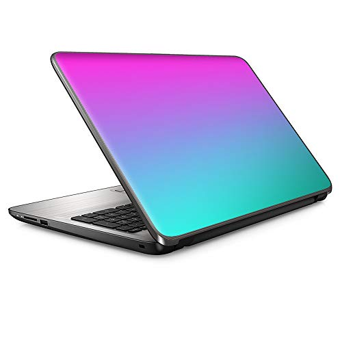 """15 15.6 inch Laptop Notebook Skin Vinyl Sticker Cover Decal Fits 13.3"""" 14"""" 15.6"""" 16"""" HP Lenovo Apple Mac Dell Compaq Asus Acer/Ombre Blue Teal Pink Purple Hombre Design Fade"""