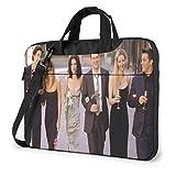 FRI-Ends TV Show 15.6 14 13in Elegante maletín de Negocios Personalizado Paquete de computadora Estuche para computadora portátil Bolso de Hombro portátil