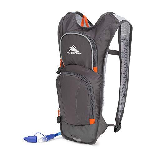 High Sierra Hydrahike Hydration Pack 4L Hiking Daypack, Mercury/Red Line, International Carry-On (Model: 105490-4637)