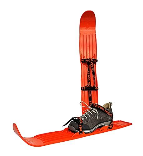 Sci per bambini per pratica, tecnica e allenamento - usati dalla Federazione USA di combinata nordica - adatti a qualsiasi tipo di scarpa/scarpone, per bambini e ragazzi dai 3 anni in su (Arancione)