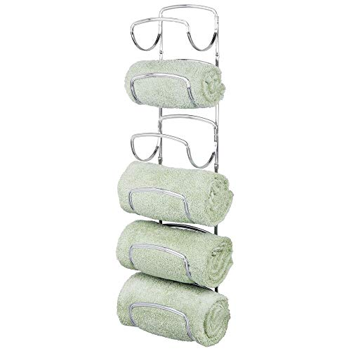 mDesign Modern Decorative Six Level Bathroom Towel Rack Holder &...