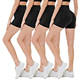 CAMPSNAIL 4 Pack Biker Shorts for Women - 5' High Waisted Soft Stretch Women's Shorts for Casual...
