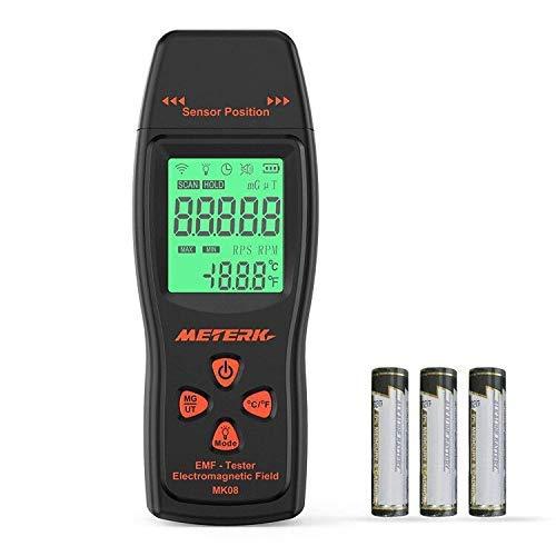 Meterk EMF Meter Electromagnetic Field Radiation Detector