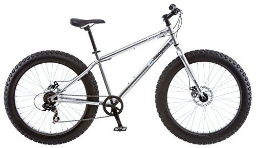 Mongoose Men's Malus Fat Tire Bike, Silver