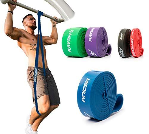 ActiveVikings Elastici Fitness Pull-Up | Perfetto per Ipertrofia e Crossfit Freeletics Callistenia | Elastici Fitness Fasce pull-up Bande di Resistenza