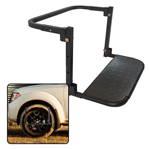 VaygWay Thule Car Tire Step- Black Heavy Duty Wheel Tire-...