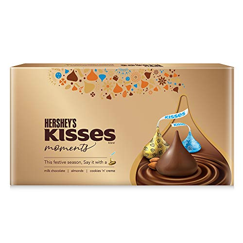 Hershey's Kisses Moments Chocolate Gift Box, 129g ( Pack of 2)