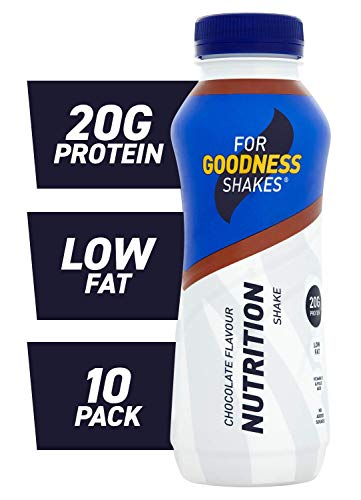 For Goodness Shakes Protein Nutrition Chocolate Shake, 315ml - Pack of 10