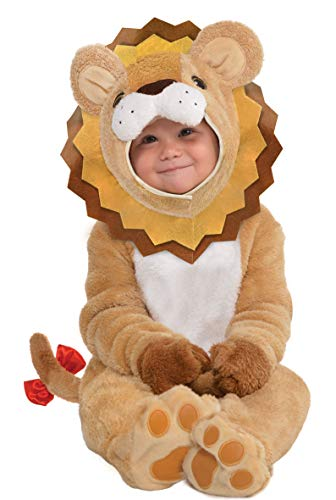 amscan 10132315 Baby Lion Costume with Detachable Hoodie-Age 12-24 Months-1 PC