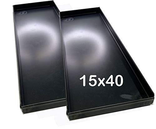 Emili Teglie Teglia Forno 40 x15 x 2 cm per Pizza Professionale 8/10 di Spessore Alta idratazione 2 Pezzi