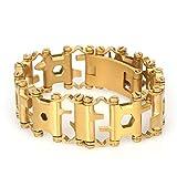 29-en-1 Multitool Bracelet Bracelet d'urgence en plein air Bracelet Tournevis Bracelet en acier...