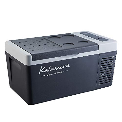 Kalamera Portable Refrigerator Freezer (18 Quart) Car, Camp, Office, Travel Mini Fridge   Electric Drink Cooler for Indoor, Outdoor, Traveling Use   DC and AC Power