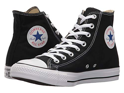 Converse Chuck Taylor All Star High Top Sneaker, Black (White Sole), Size 8.5