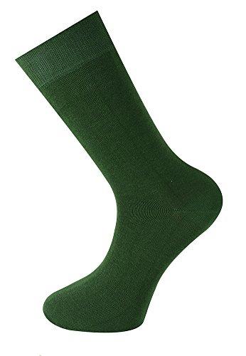 Mysocks uomo e donna calze tinta unita Verde pino
