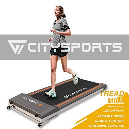 CITYSPORTS Tapis roulant Treadmill Fitness da Ufficio/casa, Elettrico 1-6 km/h, Facile da spostare e...