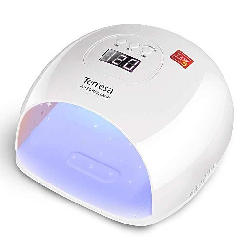 Lampada UV LED Unghie, Terresa Lampada Gel Unghie 72W Fornetto Unghie Asciugatura Rapida per Smalto...