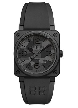 Bell & Ross BR03-92 Automatic 42mm Black Camo Mens BR0392-CAMO-CE/SRB