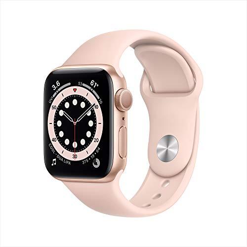 New Apple Watch Series 6 (GPS, 40mm) Gold Aluminum Case - Pink Sand Sport Band