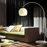 CCLIFE Lampe Lampadaire à arc salon courbée - Lampe arceau moderne en...