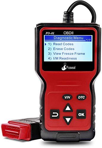 Foseal Outils DiagnosticAuto LecteurCodeDéfaut Voiture, OBD2 Scanner AppareilBoitierDiagnostic d'Erreur pour Tester Les Systèmes de Moteur pour Voitures à Essence