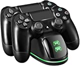 Chargeur Manette PS4, Double USB Chargeur de Manette Station avec indicateur LED...