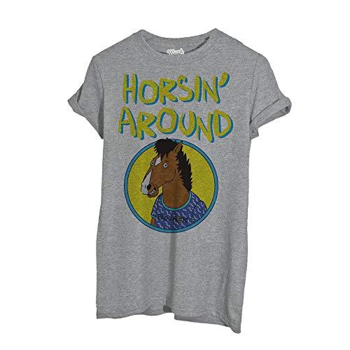MUSH T-Shirt Bojack The Horseman - Film by Dress Your Style - Uomo-L-Grigio