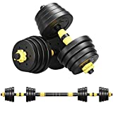 PUTEARDAT Adjustable Weights Dumbbell Set, 66 Lb / 88 Lb Free Weight Set for Men Women, Home Gym Fitness Workout Barbell Set with Connecting Rod