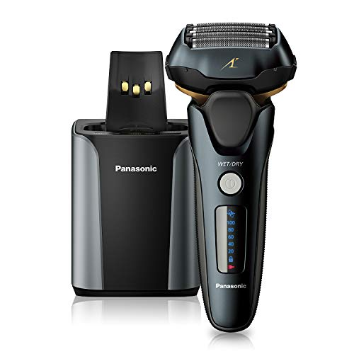 Panasonic Electric Razor for Men |Electric Shaver|ARC5 with Premium Automatic Cleaning and Charging Station |Wet Dry Shaver Men | Cordless Razor | Shaver with Pop-Up Trimmer ES-LV97-K, Black