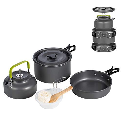 Terra Hiker Camping Cookware, Nonstick, Lightweight Pots,...