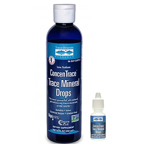Trace Minerals - Bundle with ConcenTrace Trace Mineral Drops - 8 oz + ConcenTrace Mineral 0.5oz