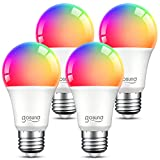 Smart Light Bulbs, Dimmable Color Changing Smart Bulb Works with Alexa and Google Home, RGB...