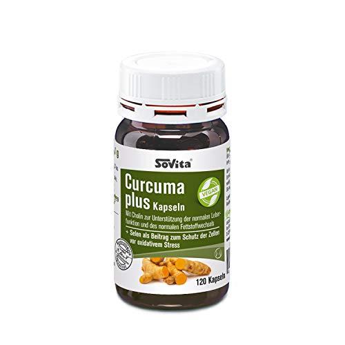 Curcuma plus Kapseln   Mit Cholin zur Unterstützung der normalen Leberfunktion und des normalen Fettstoffwechsels   Nahrungsergänzungsmittel   120 Kapseln