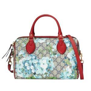 Gucci Unisex Beige/Blue Top Handle GG Coated Canvas Small Handbag 409529 8492 26