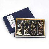 Conjunto de bloco de tinta de qualidade hmayart para pintura sumi-e gongbi pintura de tinta de desenho e caligrafia shodo (mt018 conjunto preto), mt018 black set, 1