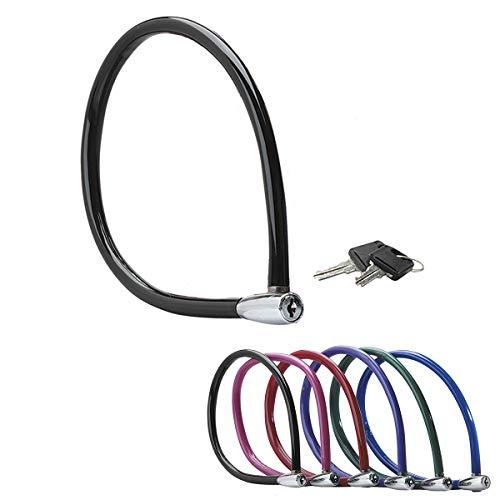 MASTER LOCK Cable Antivol Vélo [55 cm Câble] [Clé] [Extérieur] [Couleur Aléatoire] 8630-F - Idéal pour Vélo, Vélo Electrique, Skateboard, Poussettes, Tondeuses et autres Equipements