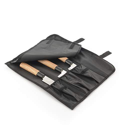 InnovaGoods - Set di coltelli giapponesi con custodia di trasporto professionale DamasQ