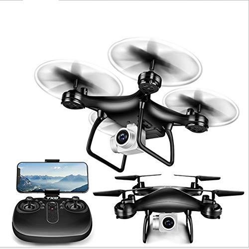 TXD Quadcopter Drone w/P 1080 Videocamera HD, Super Long Life 120  Ampio Angolo di tiro (Color : Black)