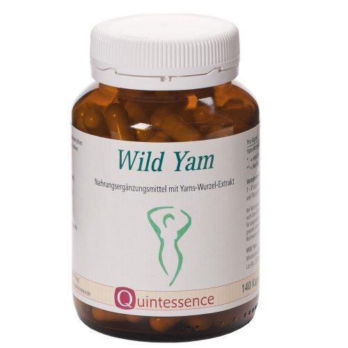 Wild Yam von Quintessence | 140 Kapseln | Bei Frauen ab dem 40. Lebensjahr beliebt | 100% natürliche Rohstoffe | 100% vegetarische Cellulose-Kapsel