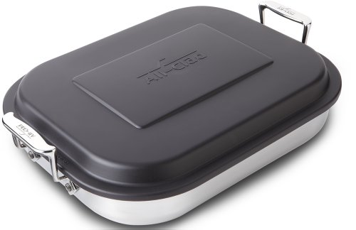 All-Clad E9019964 Stainless Steel Lasagna Pan Cookware, 15-Inches, Silver