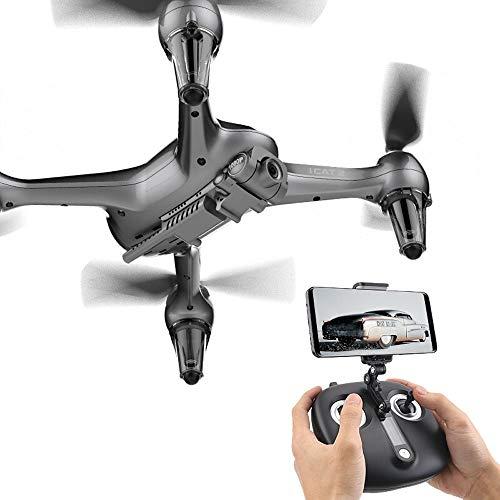 Ycco Fotografia aerea ad alta definizione, funzionamento del telefono cellulare, telecamera WIFI FPV Quadcopter Drone con 8MP 1920P Video in diretta per principianti Kids Mobile APP Controllo Modalit
