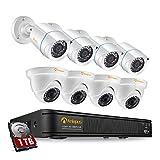 Anlapus FULL HD 1080P H.265+ Kit Vidéo Surveillance - 8CH DVR avec 1To...