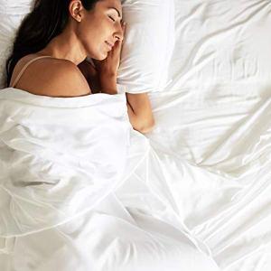 Bamtek 100% Organic Bamboo Sheet Set Queen Size Silky Soft Luxury Like Sleeping in a Cloud, Deep Pockets, 2 Pillowcases, 1 Fitted sheet, 1 Flat Sheet