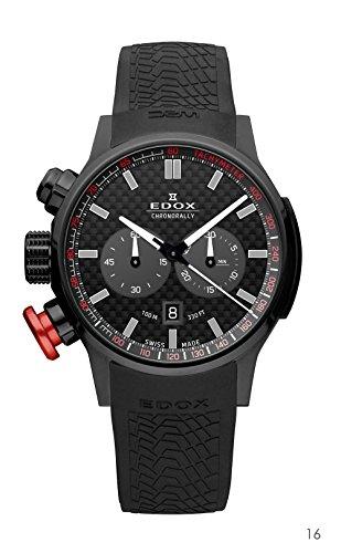 EDOX Unisex-Armbanduhr EDOX RALLY INSTRUMENTS CHRONORALLY Chronograph Quarz Kautschuk 10302 37N NIN