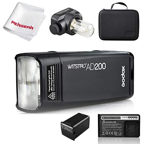 【Godox正規代理店&日本語説明書】Godox AD200 200Ws 2.4G TTLフラッシュストロボ1/8000 HSSコードレスモノ...