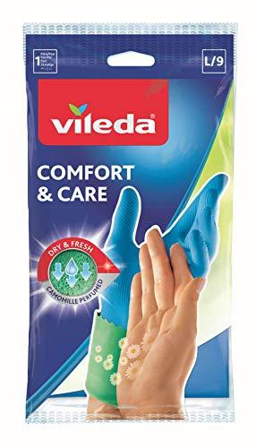 Vileda Confort Extra Guanti Casalinghi, con Rivestimento Anti-Sudore, Elevata Protezione, Lattice,...