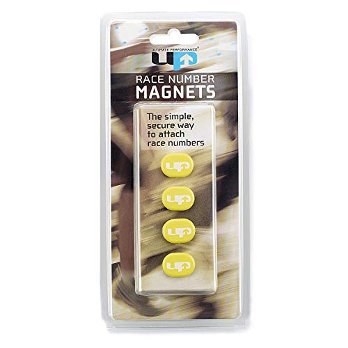 Ultimate Performance Race Number Magnets Imanes Porta Dorsal, Unisex Adulto, Amarillo, Talla única