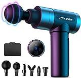 MILcea Massagepistole, Massagegerät mit 5 Geschwindigkeiten, LED-Anzeige-Touchscreen Massage Gun, elektrisches Handmassagegerät mit 6 Massageköpfen für Nacken Schulter Rücken