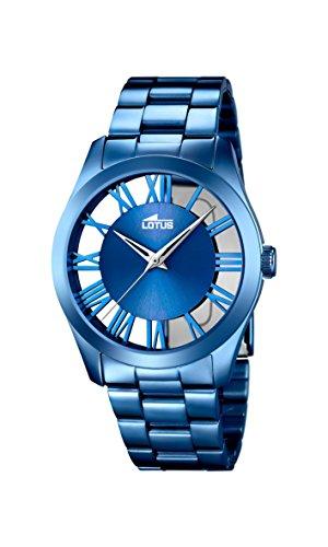 Lotus Damen Analog Quarz Uhr mit Edelstahl Armband 18252/1